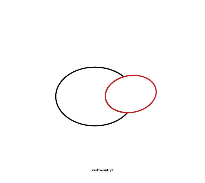 krok 2 w rysowaniu biedronki