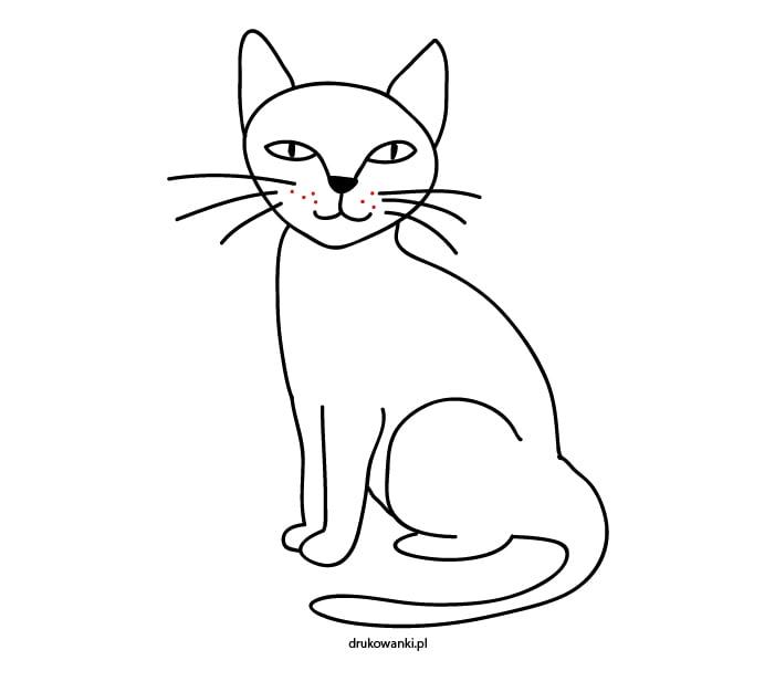 kotek narysowany