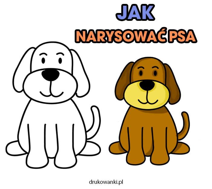 instrukcja dla dzieci jak narysować psa krok po kroku