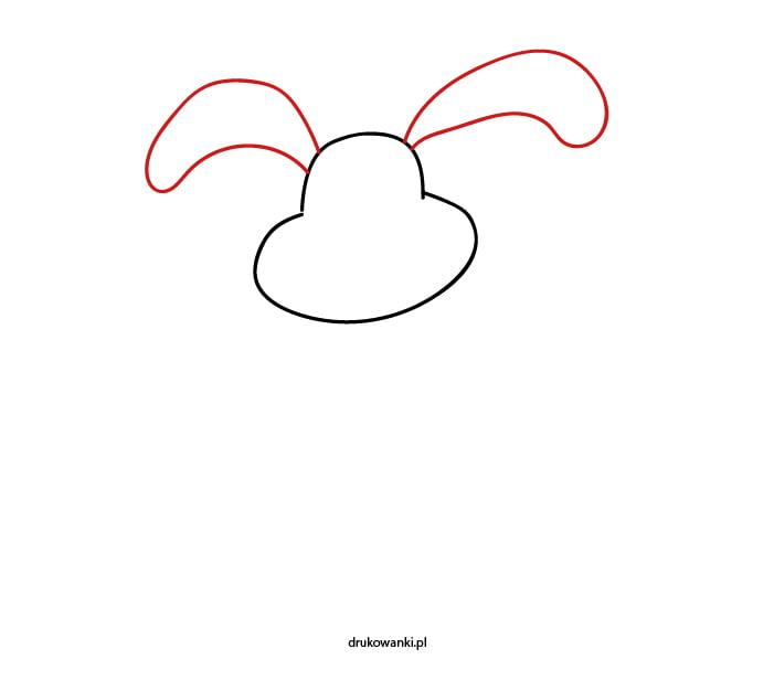 rysowanie królika krok po kroku