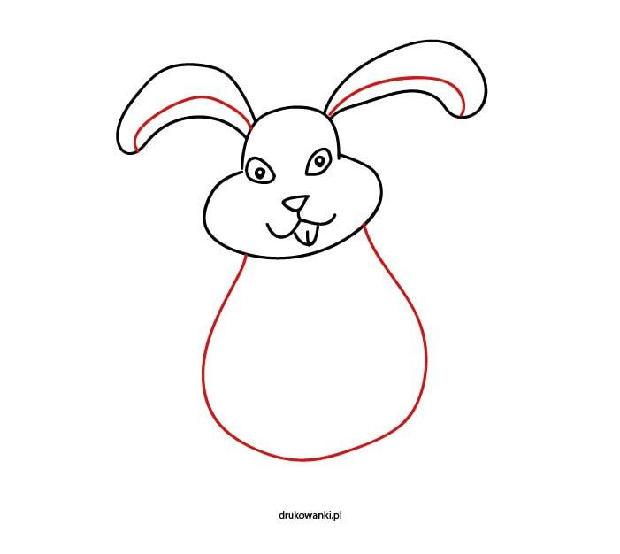 królik wielkanocny rysunek dla dzieci