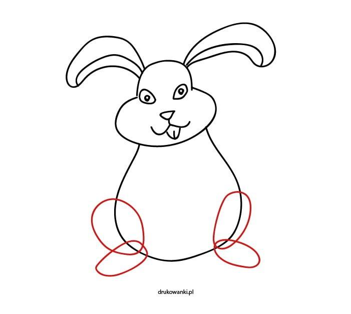 rysunek królika dla dzieci