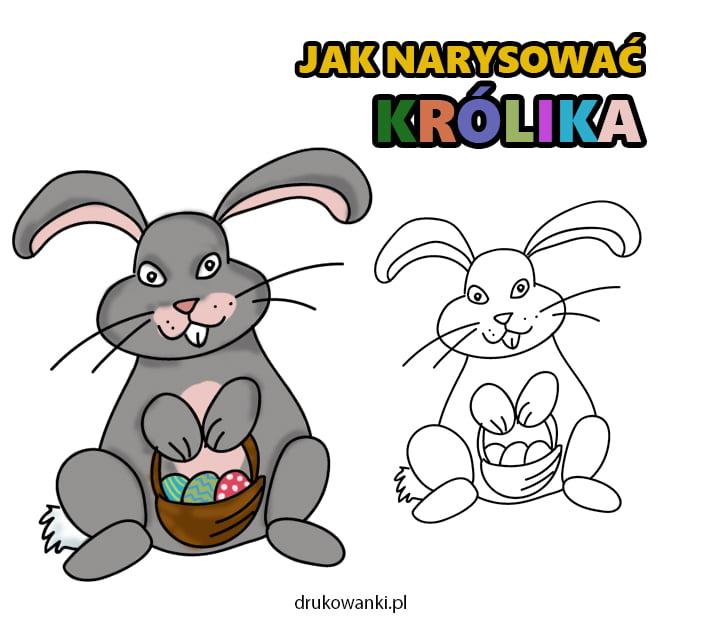jak narysować królika wielkanocnego
