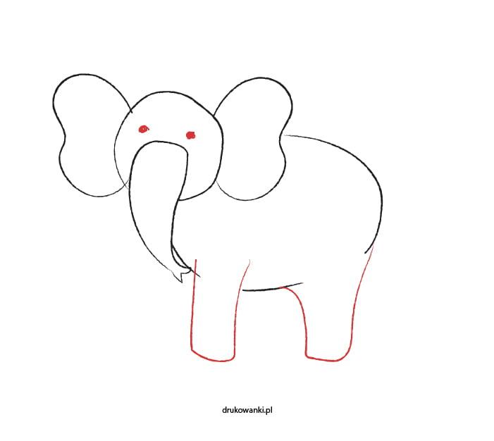 słoń instrukcja rysowania