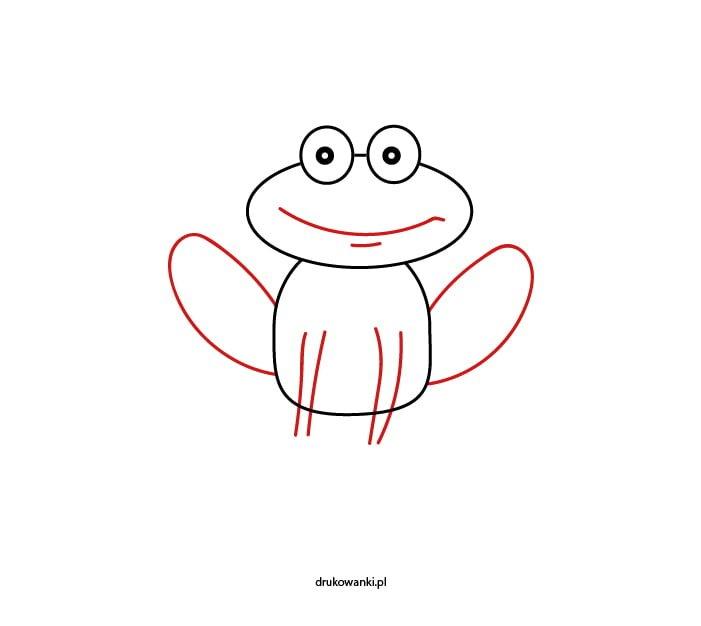 rysujemy żabę z dzieckiem