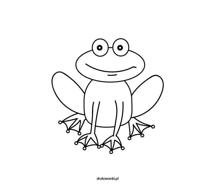 żaba kolorowanka