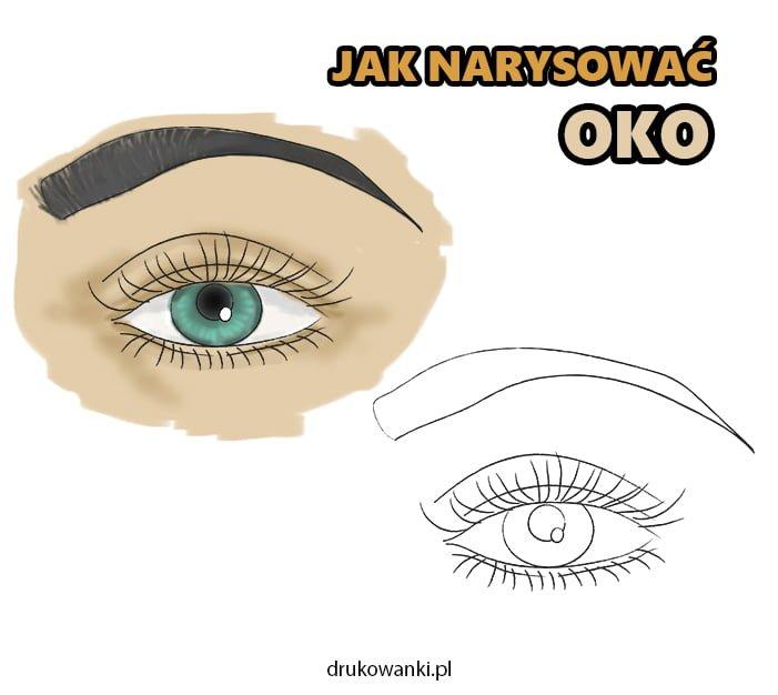 jak narysować oko instrukcja