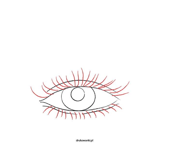 jak narysować rzęsy na oku