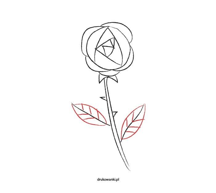 instrukcja dla dzieci jak narysować różę
