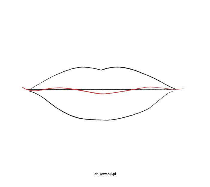 rysunek ust łatwy