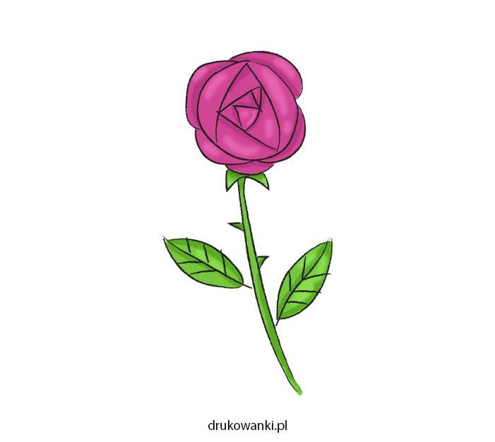 róża dla mamy rysunek jak zrobić