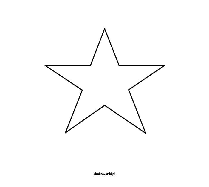gwiazda kolorowanka