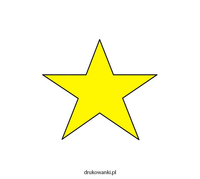 gwiazda rysunek kolorowy