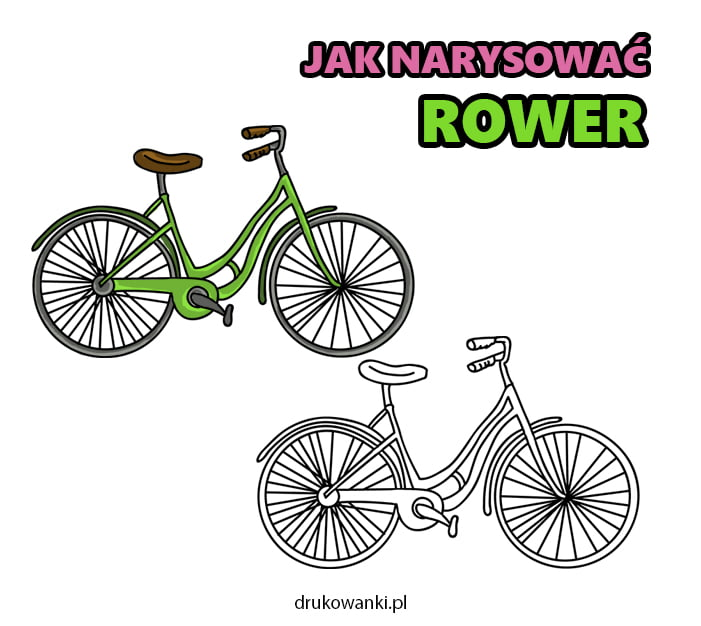 jak narysować rower