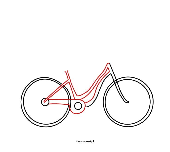 rower jak narysować