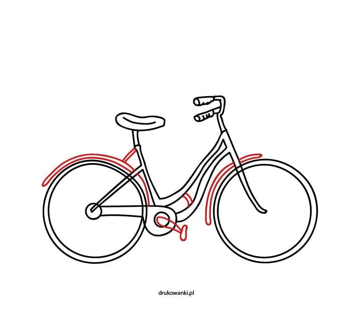 rower miejski rysunek