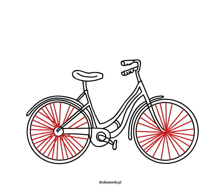 jak narysować rower krok po kroku