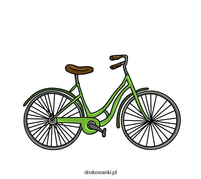 kolorowy rower rysunek