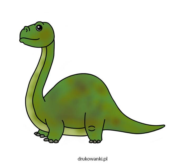 diplodok rysunek dinozaur
