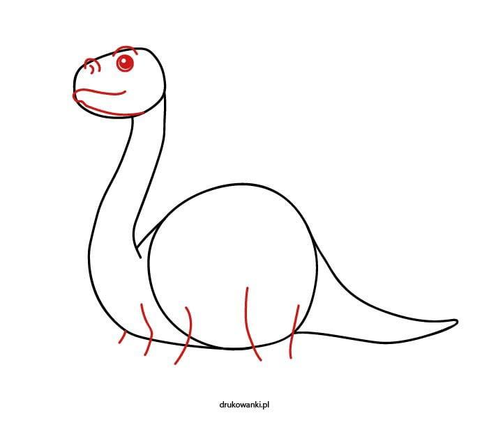rysowanie dinozaura