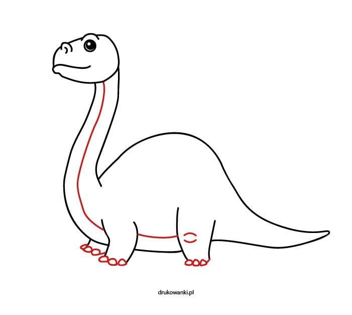 jak narysować dinozaura