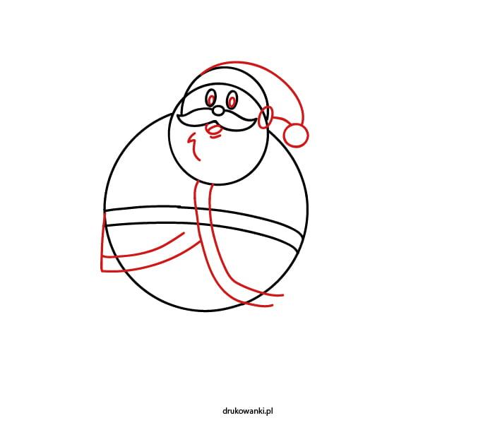 rysowanie Mikołaja
