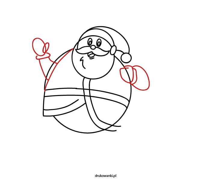 ćwiczenia rysunkowe dla dzieci mikołaj