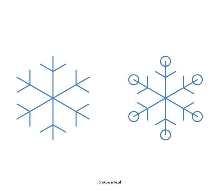 śnieżynka jak narysować