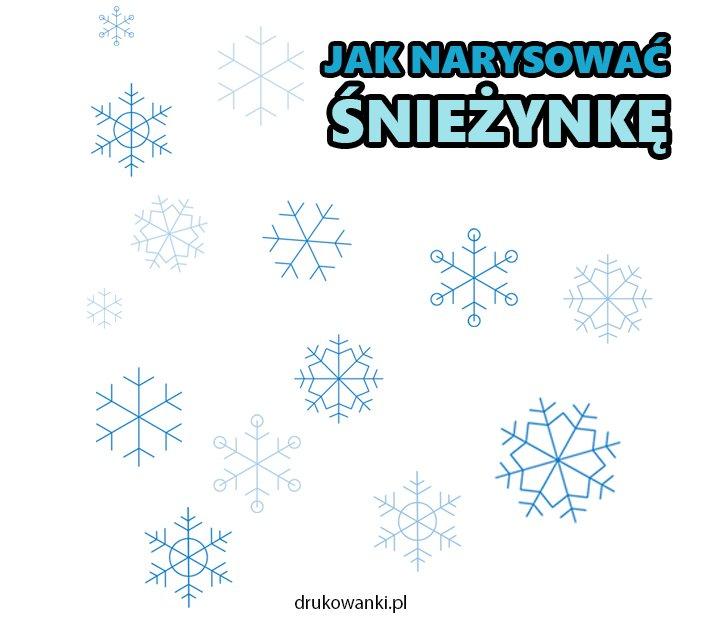 jak narysować śnieżynkę płatek śniegu