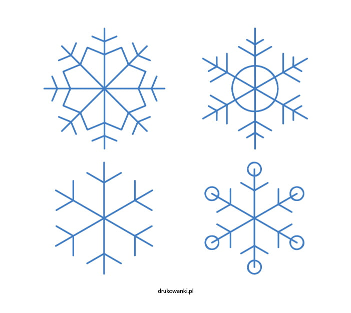 płatki śniegu zestaw rysunek