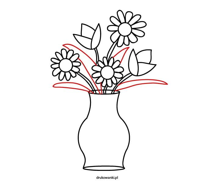 rysunek kwiatów do druku