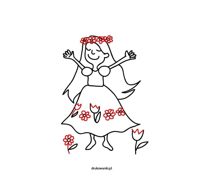 kwiatki na sukience