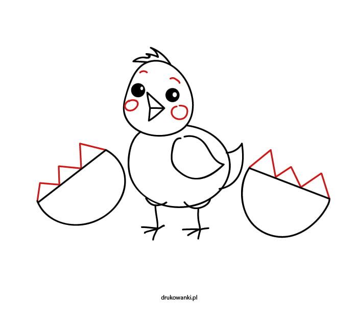 jak narysować kurczaczka instrukcja