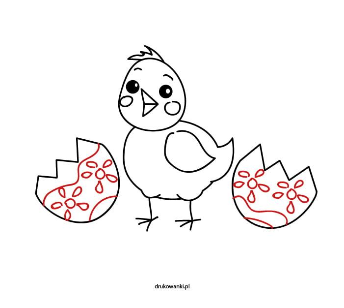 kurczaczek z pisanką wielkanoc