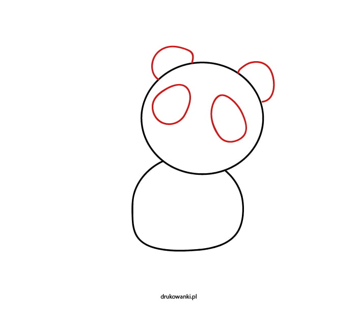 jak narysować pandę krok po kroku