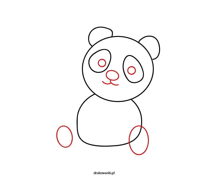 prosty rysunek pandy