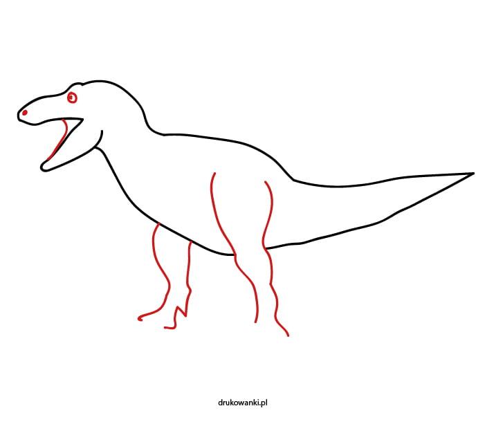 tyranozaur jak narysować
