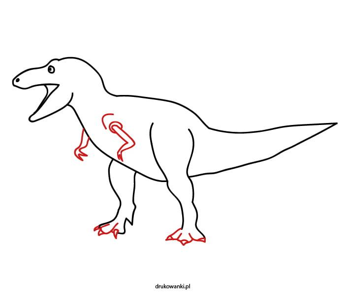 jak namalować tyranozaura