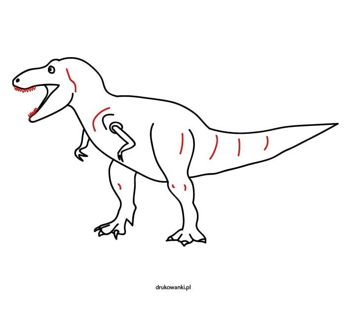rysunek tyranozaura prosty