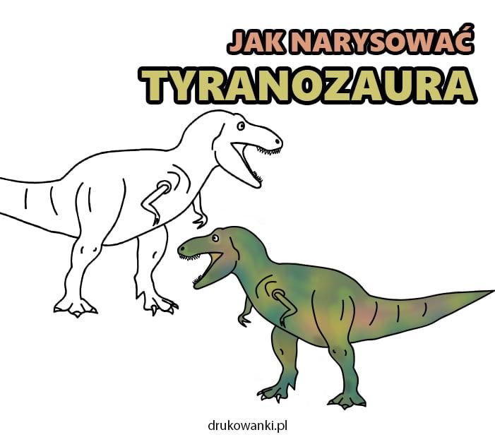 jak narysowąc tyranozaura krok po kroku
