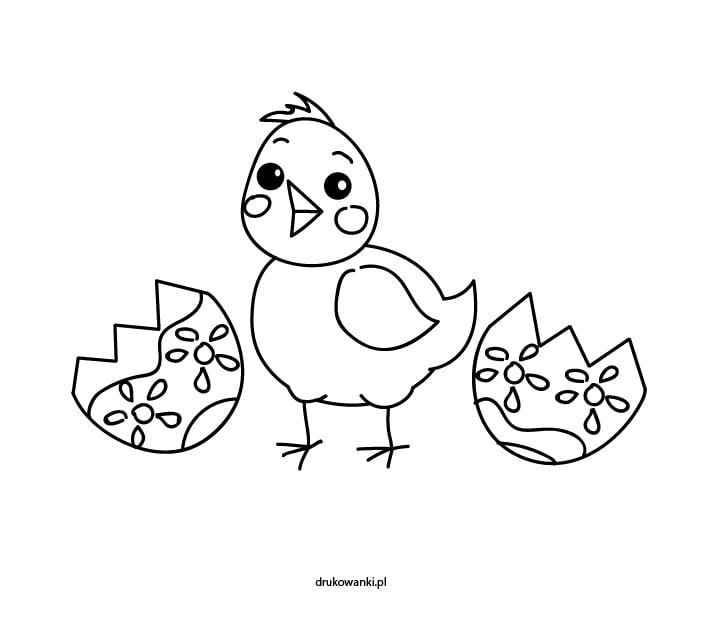kurczak wielkanocny malowanka