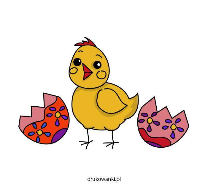 rysunek na wielkanoc kurczaczek