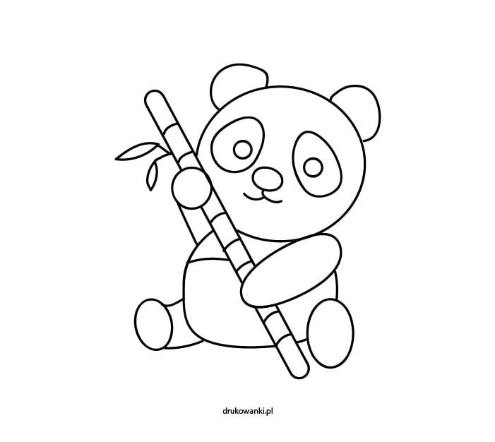 kolorowanki dla dzieci panda