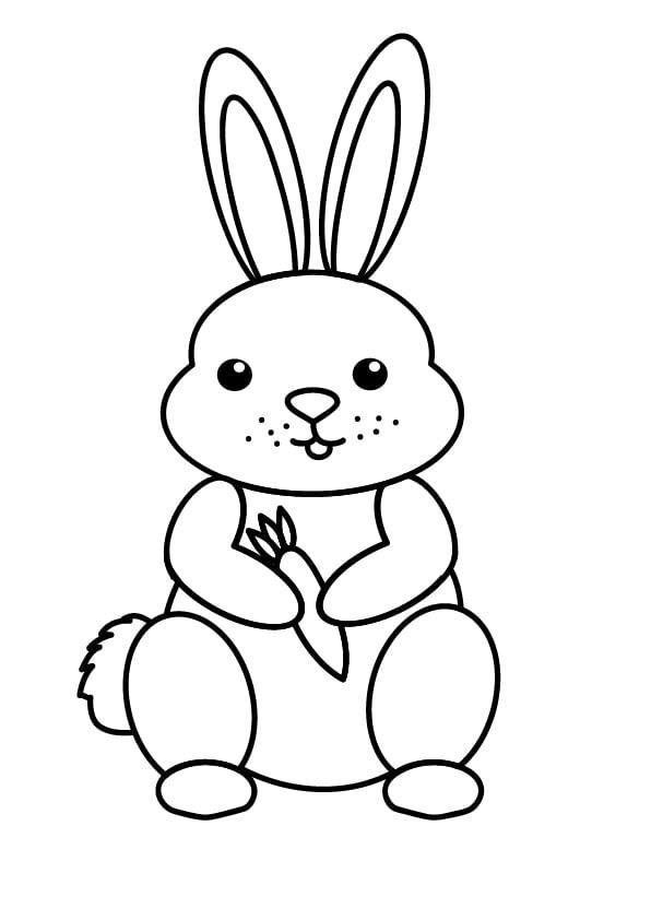 prosty obrazek królika do kolorowania