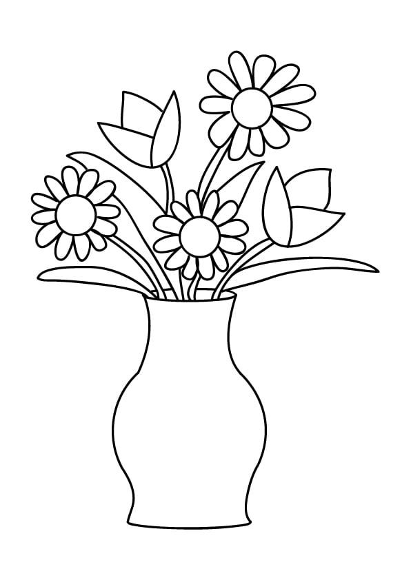 kolorowanki kwiatów wiosennych