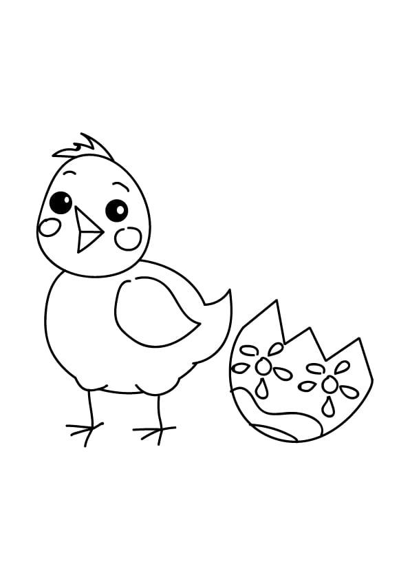 kolorowanki wielkanocne z kurczakiem
