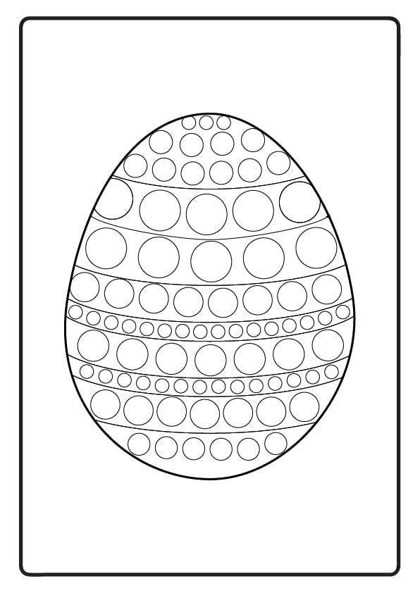 kolorowanka wielkanocna pisanka szablon dla dzieci