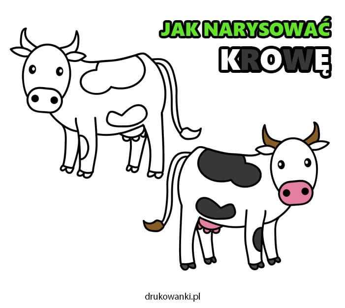 jak narysować krowę krok po kroku