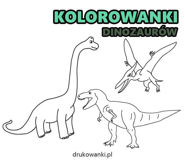 kolorowanki dinozaurów dla dzieci do druku