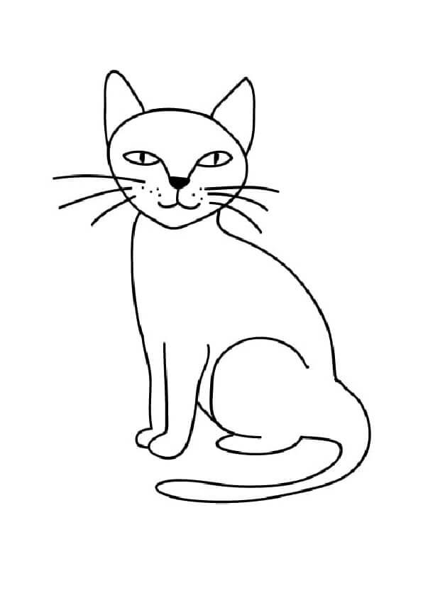 prosty rysunek kotka kolorowanka